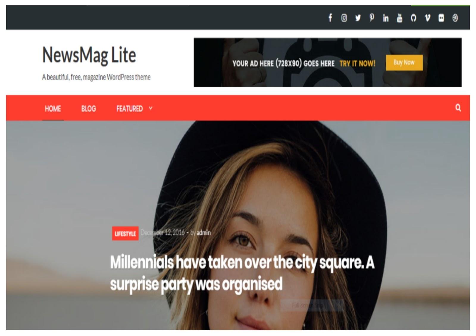 NewsMag Lite Wordpress Theme