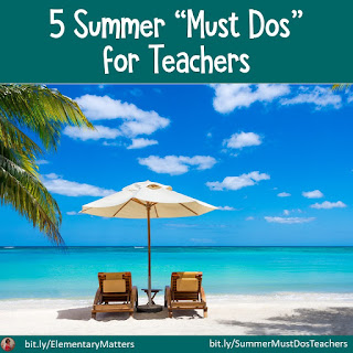 What Are You Doing This Summer? This blog post has several suggestions, ideas, and freebies for teachers who will be working with children this summer.
