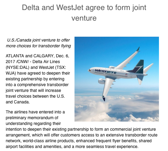 Rewards canada delta and westjet agree to form joint venture to delta and westjet agree to form joint venture to include reciprocal elite member benefits thecheapjerseys Choice Image