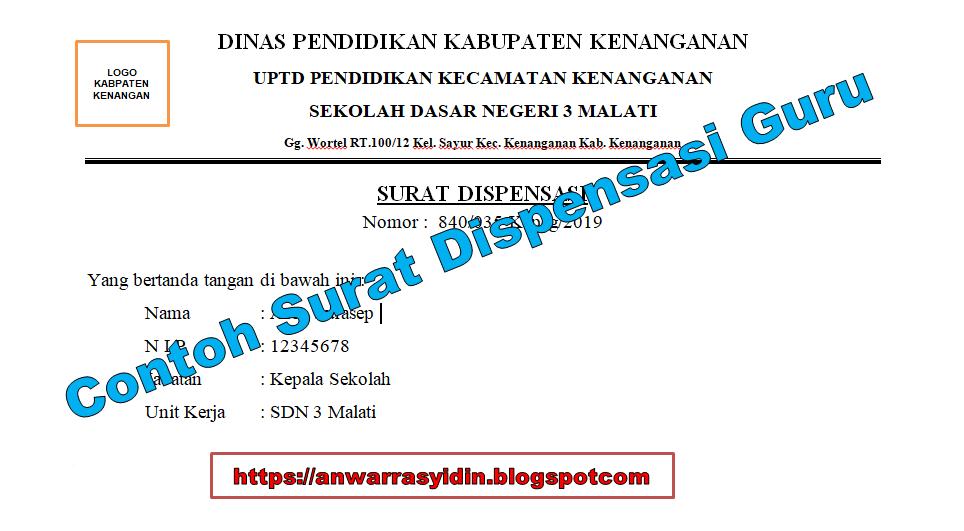 Contoh Surat Dispensasi Kegiatan Sekolah Suratmenyuratnet