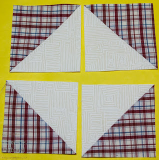 Layout to make a square in a square from HSTs - white