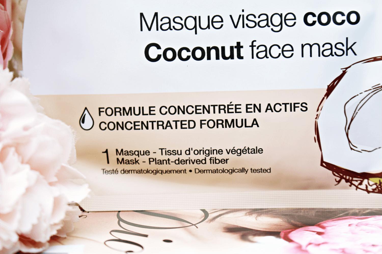 Sephora Maseczka kokosowa  z tkaniny do twarzy odżywcza i kojąca
