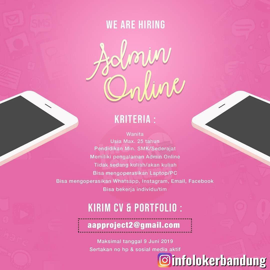 Lowongan Kerja Admin Online Bandung Juni 2019