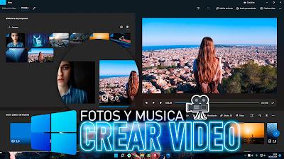 crear video con fotos windows 11