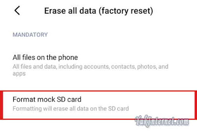 format mock sd card xiaomi