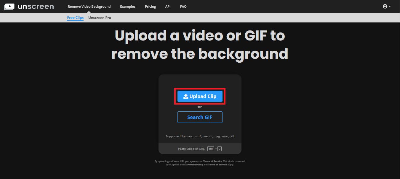Unscreen-Upload-Video