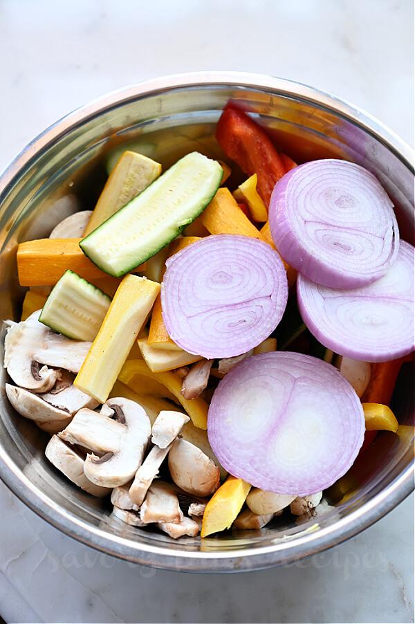 steps to make grilled vegetables