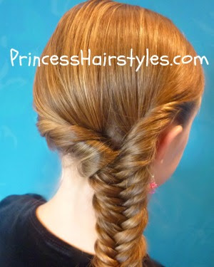 fishtail braid with twist