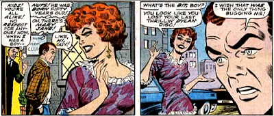 Amazing Spider-Man #65, jim mooney, john romita, as harry leaves his father's club, he's spotted by mary jane watson, who seems to be working as a prostitute, she asks him if he wants to go off for a good time but he's too worried about his father to indulge her