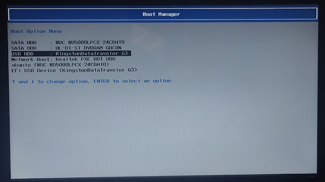 Boot Manager (Options)