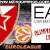 EVROLIGA: Crvena zvezda - Armani Milano UŽIVO PRENOS ONLINE [SPORTKLUB 09.02.2018 19:00]