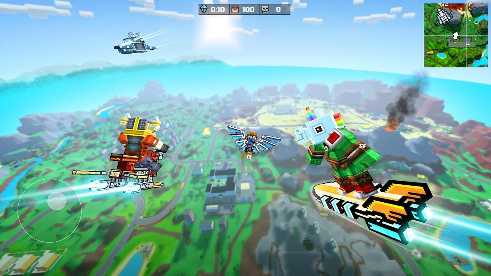 Pixel Gun 3D:لعبة Battle Royale اللعبة مصممة بالبكسل (كتل مربعة) مثل Minecraft