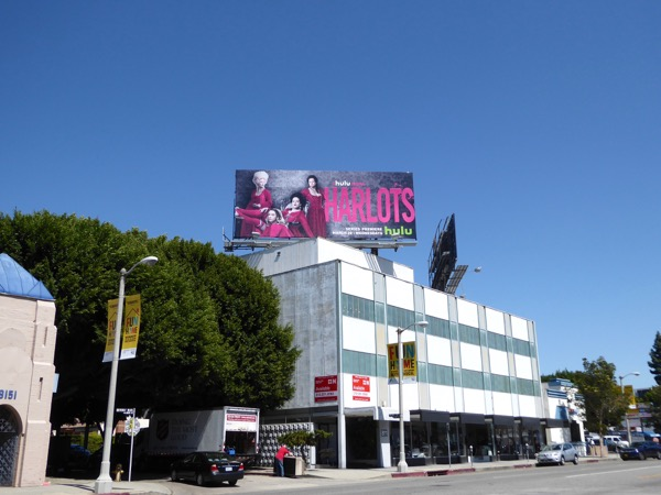 Harlots Hulu series billboard