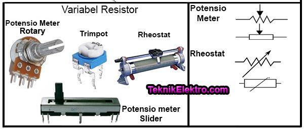jenis variabel resistor dan simbolnya