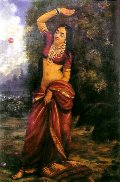 Raja Ravi Varma's Paintings: A Beautiful South Indian Women