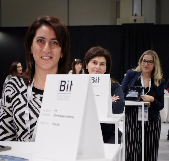 Simona Vespoli, Maria Millarte e Consuelo alla BIT di Milano