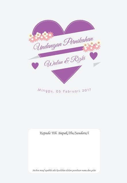 Undangan Pernikahan Murah Tema Bunga dan Warna Ungu - Walimahanid | 0812-1141-8687