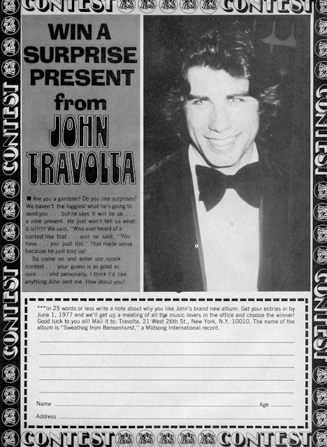 Teen magazine ad -- John Travolta