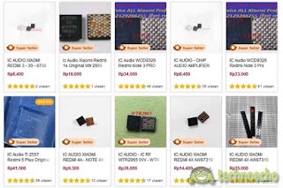 harga ic audio hp xiaomi