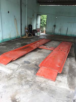 Bàn nâng cầu nâng 1 trụ rửa xe lắp nổi