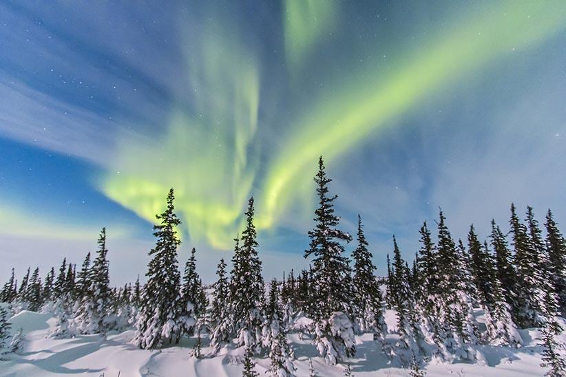 Manitoba Aurores boréales Canada