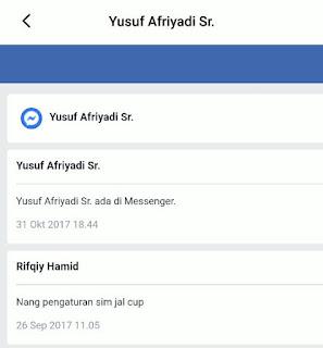 mengembalikan pesan messenger facebook