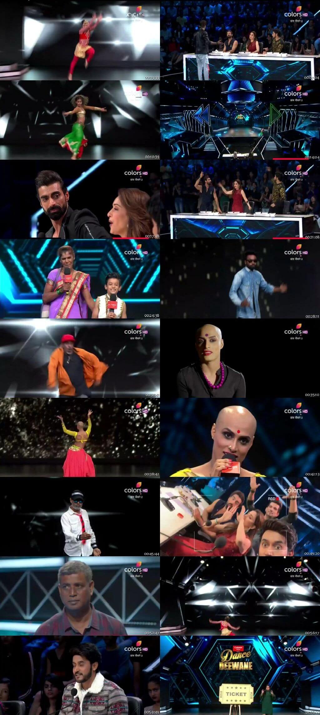 Screenshots Of Hindi Show Dance Deewane 2 16th June 2019 Episode 02 300MB 480P HD