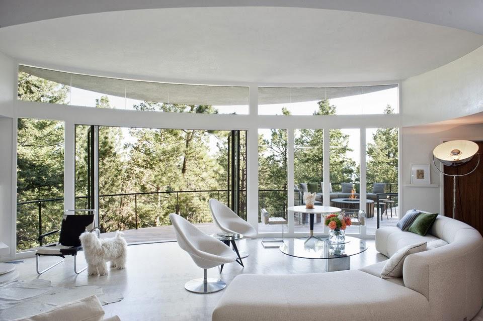 new home interior design the round house, colorado