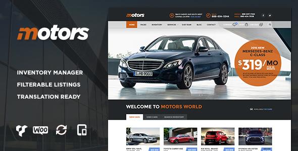 Motors V2 2 Car Dealership Wordpress Theme Nulled