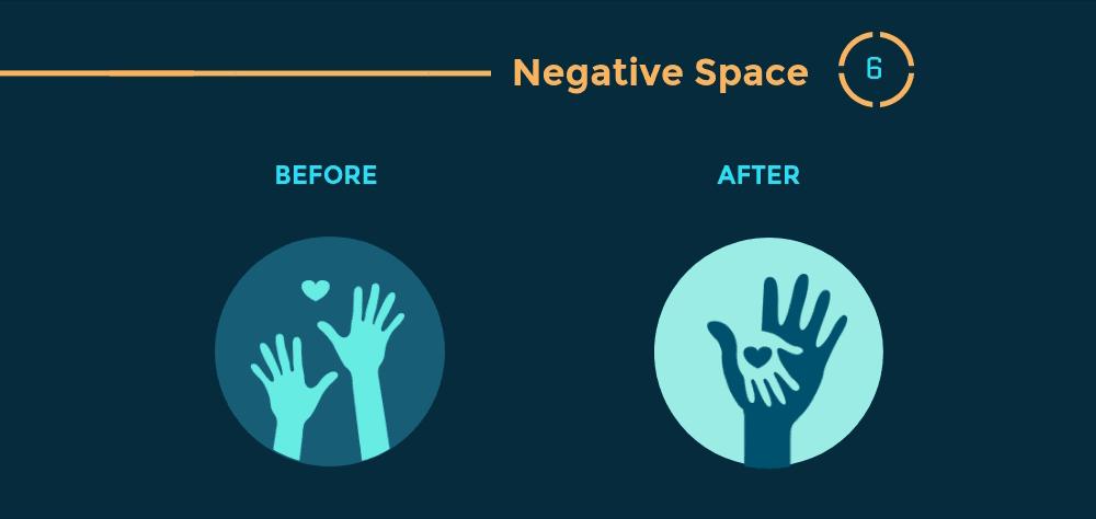 12 Prinsip Hierarki Visual Desain Grafis - Negative Space