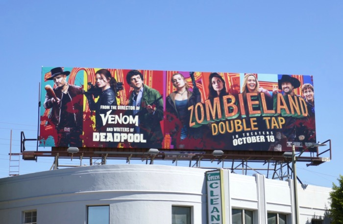 Zombieland Double Tap film billboard