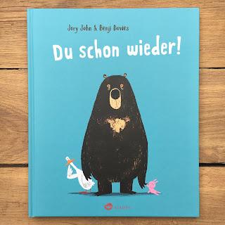 """Bilderbuch """"Du schon wieder!"""" von Jory John, illustriert von Benji Davies, erschienen im Aladin Verlag, Rezension auf Kinderbuchblog Familienbücherei"""