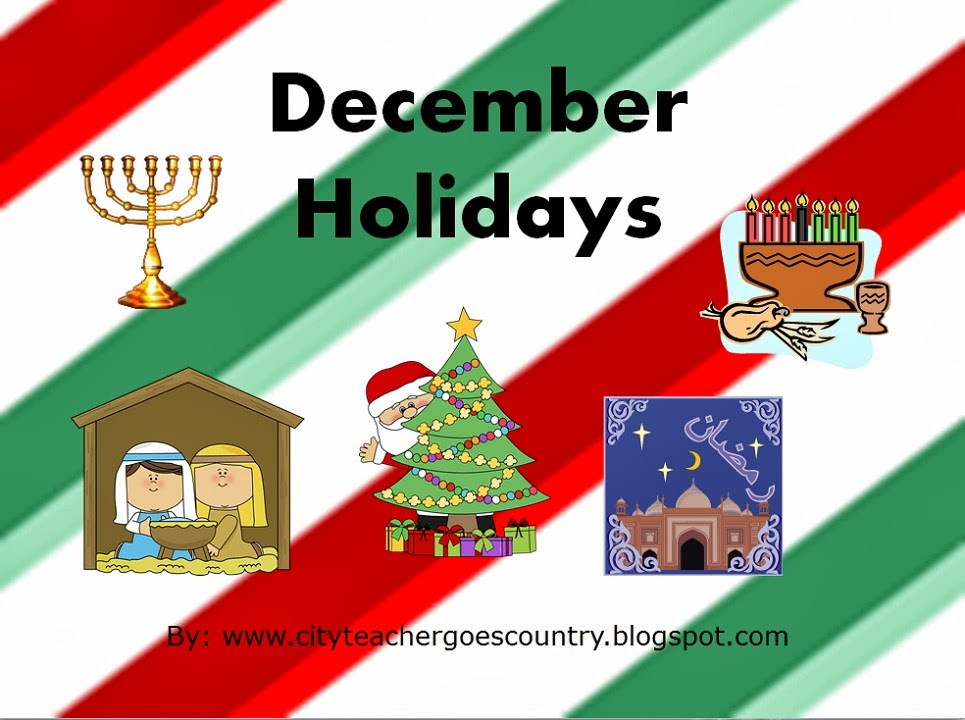 City Teacher Goes Country December Holidays Power Point