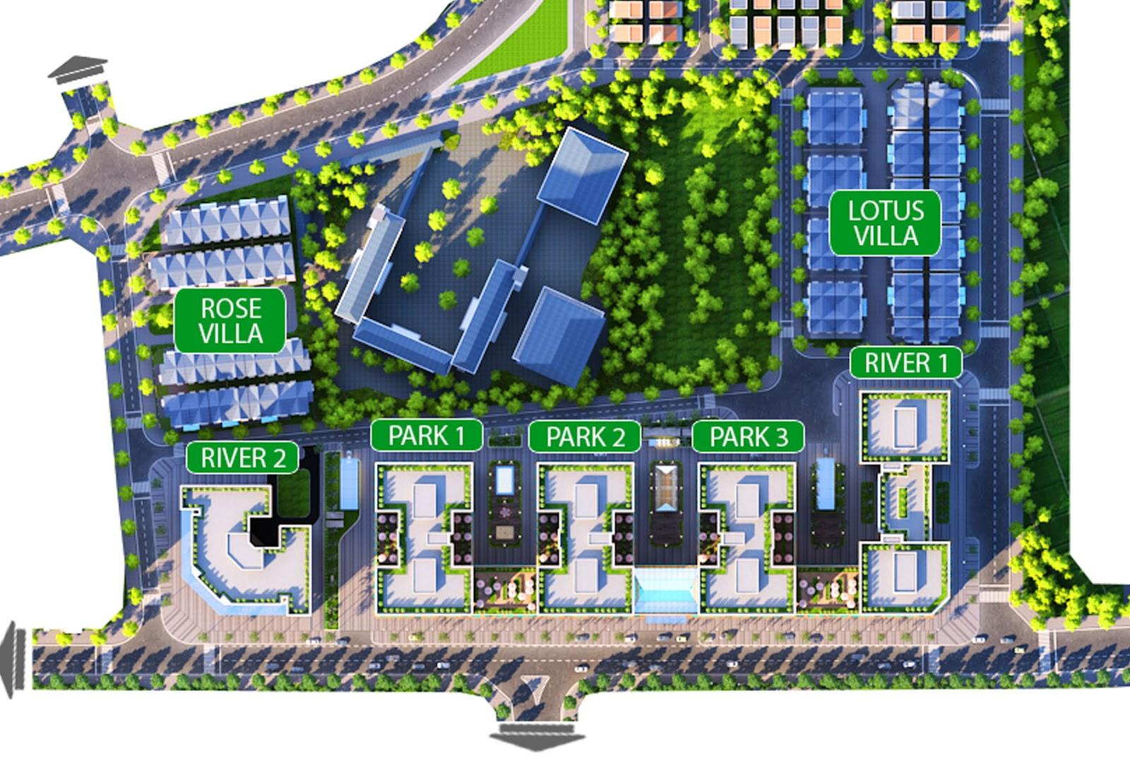 Mặt bằng tổng thể dự án chung cư Eurowwindow River Park
