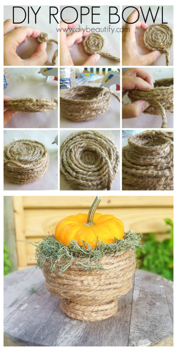 directions for a DIY rope bowl