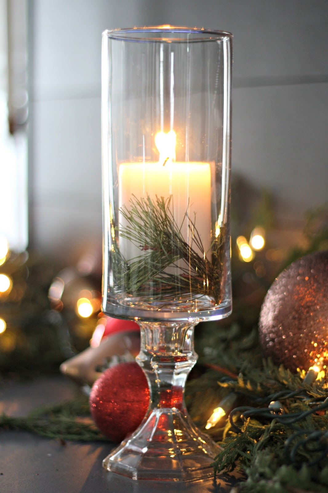 DIY candleholders using dollar store products