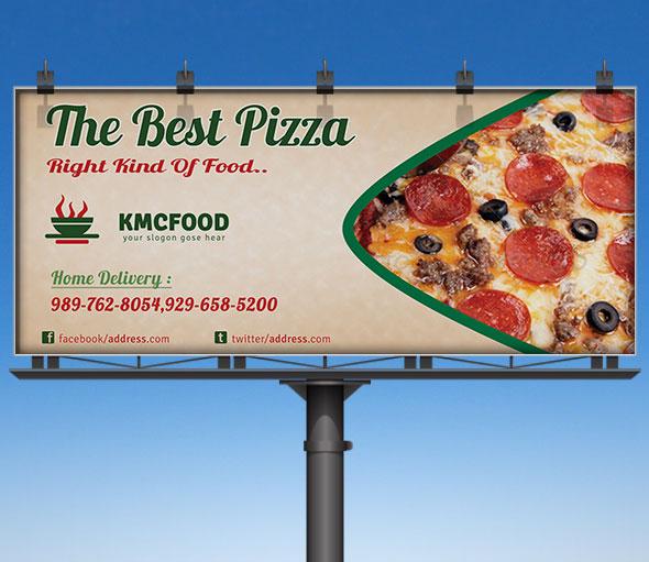 Pizza Shop Business Billboard Mockup