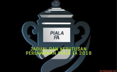 Jadual dan Keputusan Perlawanan Piala FA Malaysia 2018