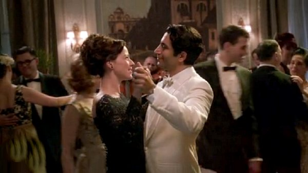 Pan Am - At a black-tie ball Colette (Karine Vanasse) dances with Prince Omar (Piter Marek)
