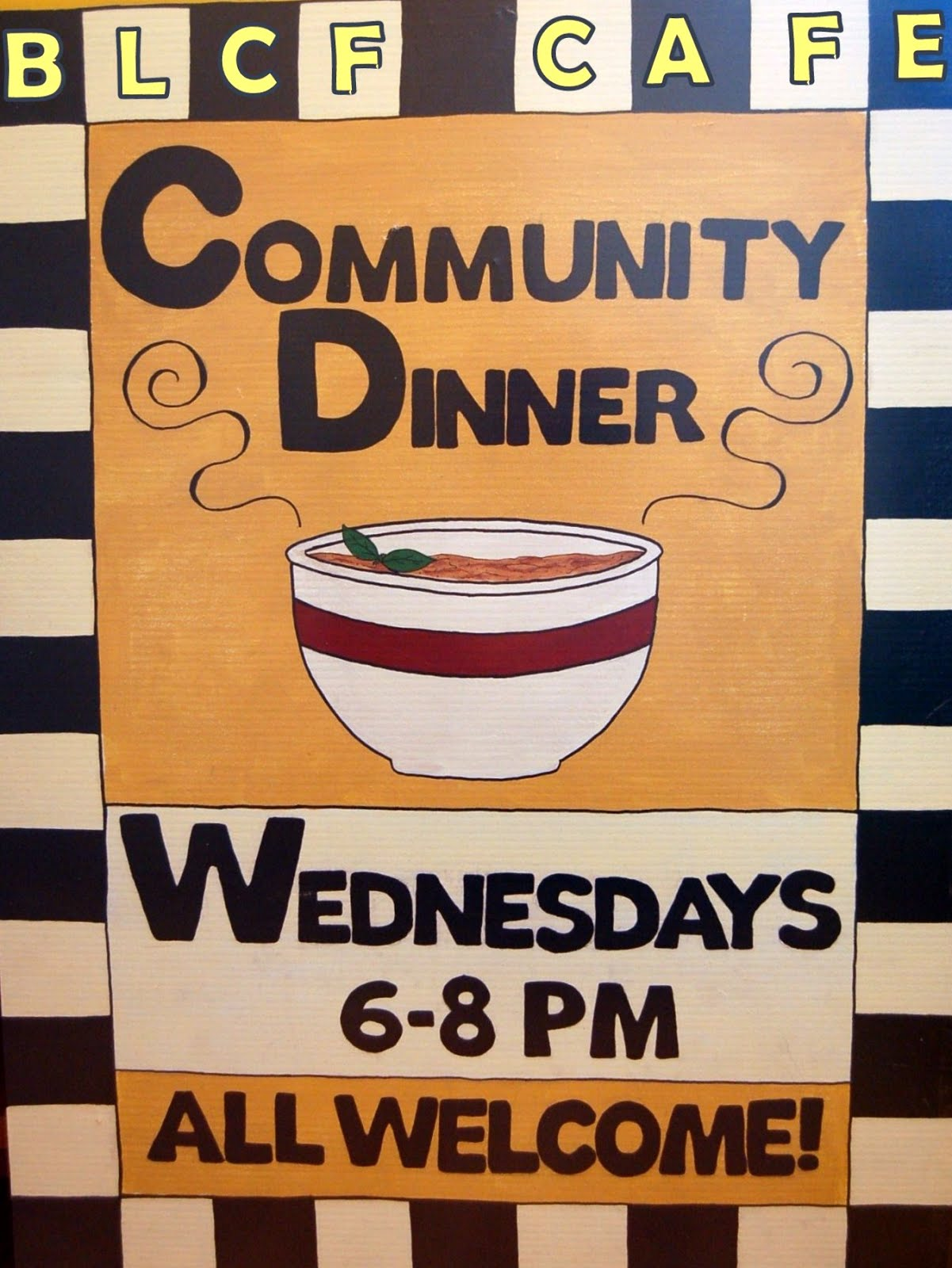 Bloor Lansdowne Community Dinner is now called BLCF Cafe Community Dinner