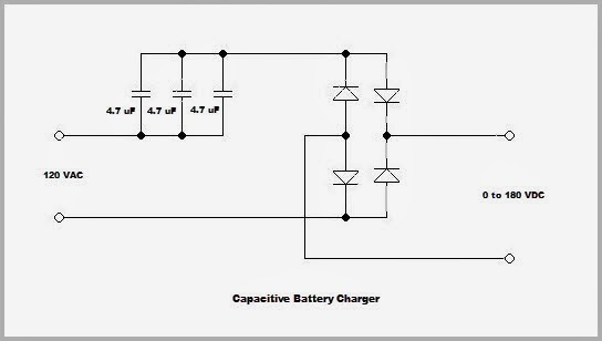 WA6PZB: Capacitive Battery Charger