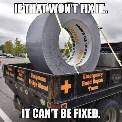 Emergency road repair team.. Mr Fixit..