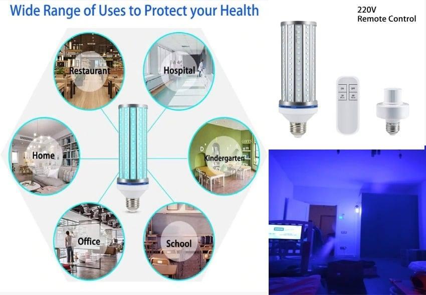 Lámpara germicidas de rayos ultravioleta a 60W con control remoto