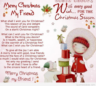 merry Christmas poem for friend