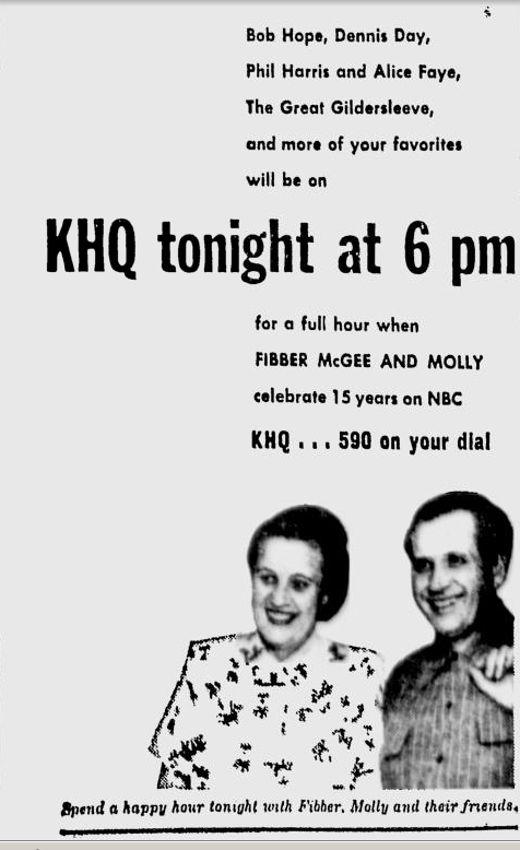 OTR Advertisements: Fibber McGee and Molly (Johnson's Wax