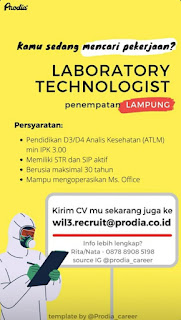Lowongan Kerja Lampung | Laboratorium Klinik Prodia