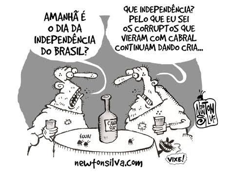 Charge: Independência e a geração de corruptos