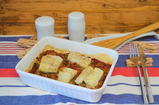 Las delicias de Mayte, recetas de bacalao, bacalao con cebolla y pimientos asados caramelizados, bacalao con pimientos, bacalao al horno, bacalao recetas,