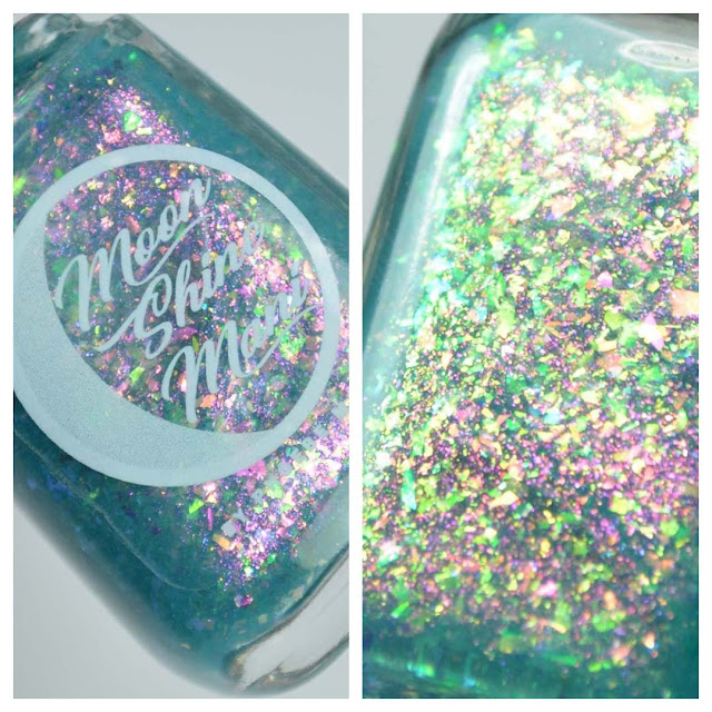 blue jelly flakie nail polish