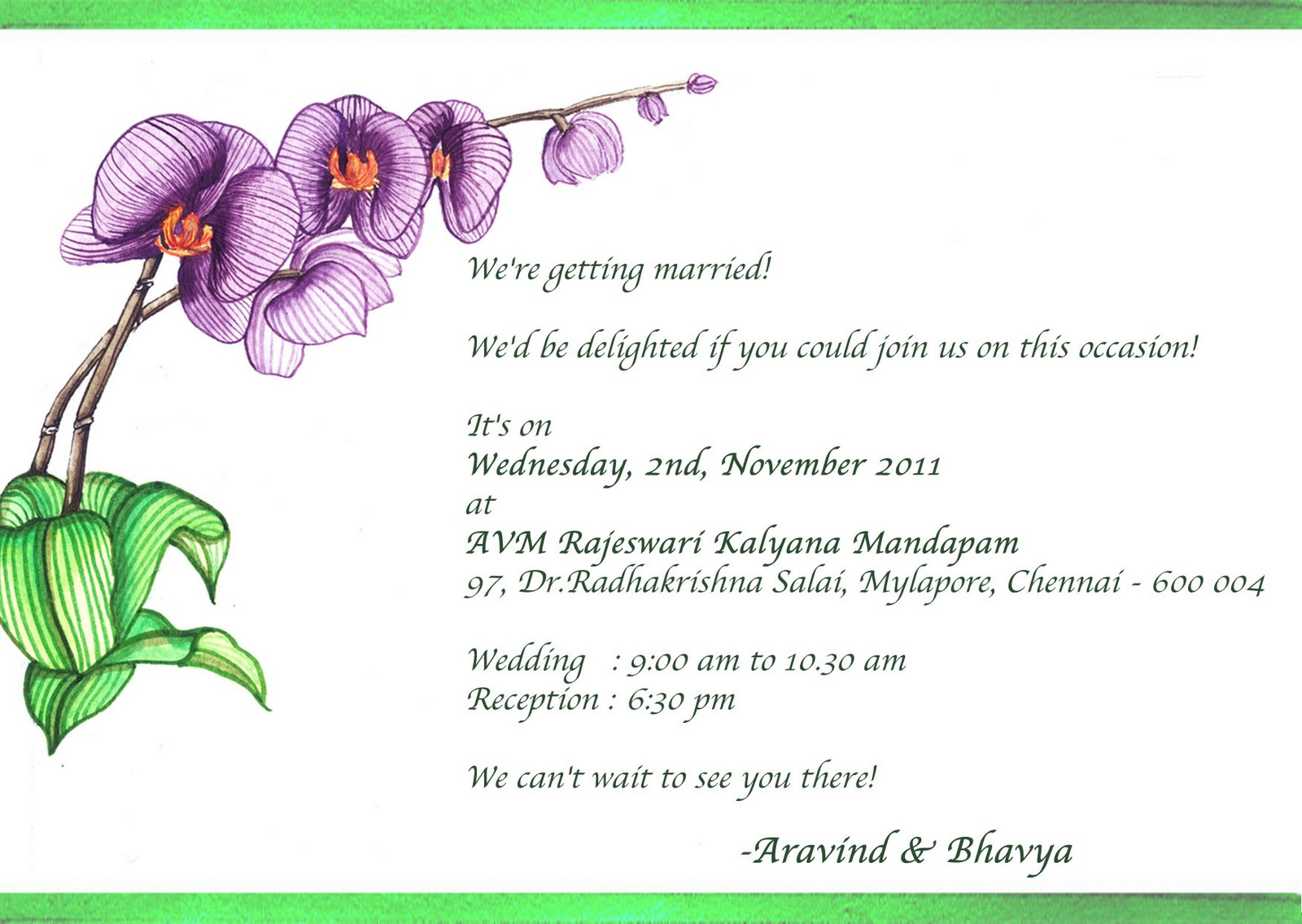 Invitaiton For Brother S Wedding